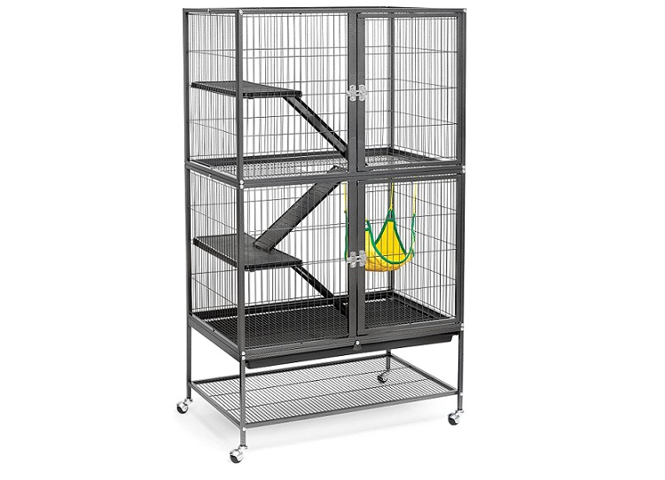 Prevue Hendryx Black Feisty Ferret Cage - exotic pets