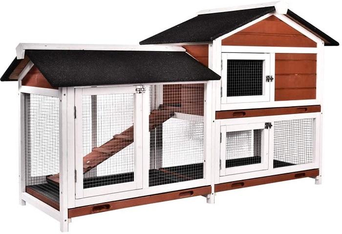 B BAIJIAWEI 36 Wooden Rabbit Cage Hutch
